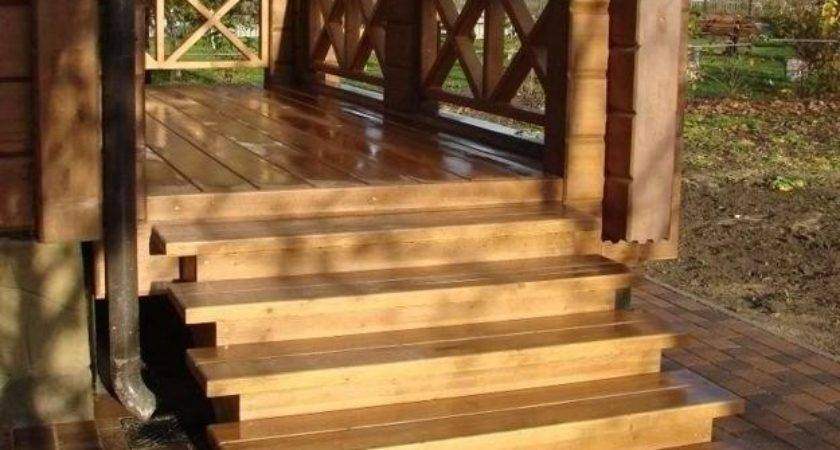 Outdoor Wooden Stairs Giving Unique Warm Look Modern