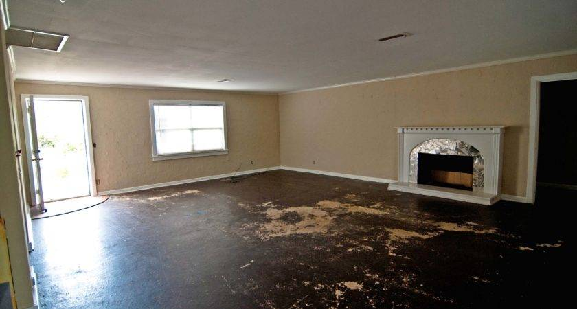 Painted Concrete Living Room Floors