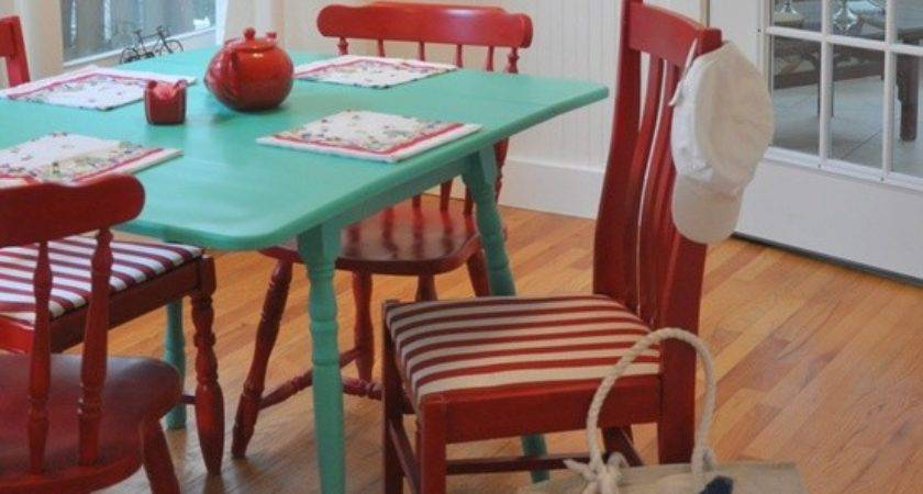 Painted Table Chairs Ideas Indelink
