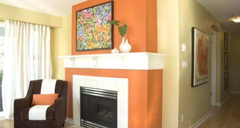 Painting Kitchen Walls Paint Wall Orange