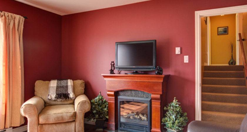 Painting Paint Color Ideas Red Living Room