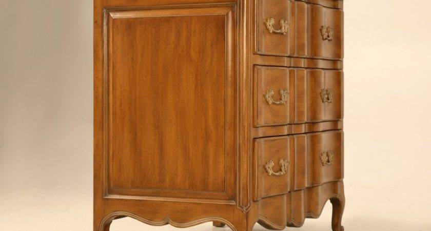 Pair French Louis Style Fruit Wood Chests