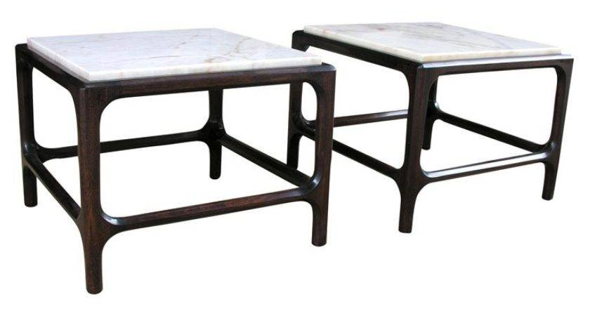 Pair Marble Top End Tables Stdibs