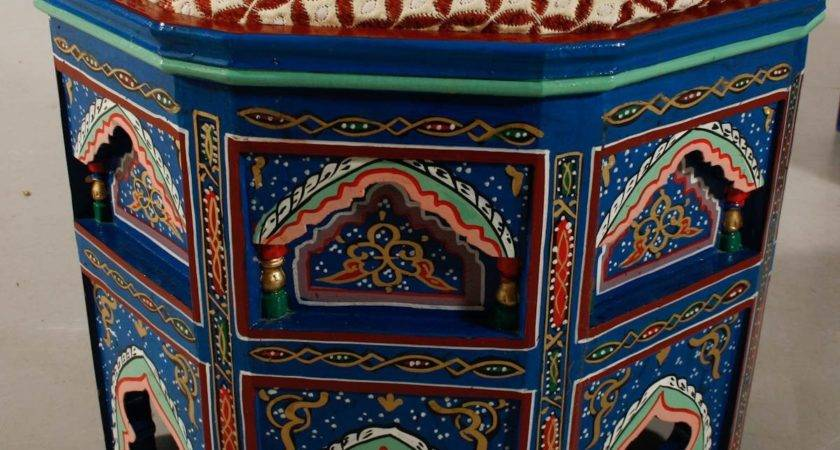 Pair Moroccan Painted Gilded Chairs Stdibs