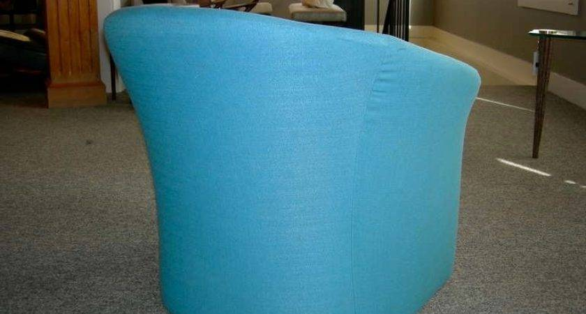 Pair Tiffany Blue Accent Chairs Massimo Vignelli