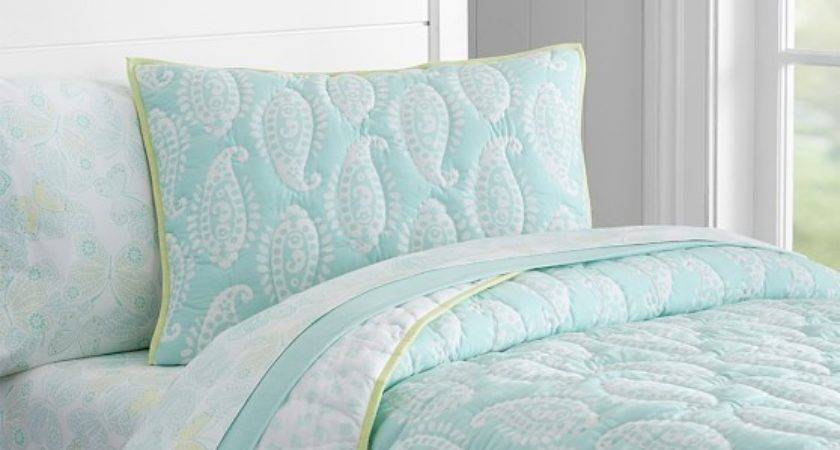 Paisley Wholecloth Quilted Standard Sham Pottery Barn Kids