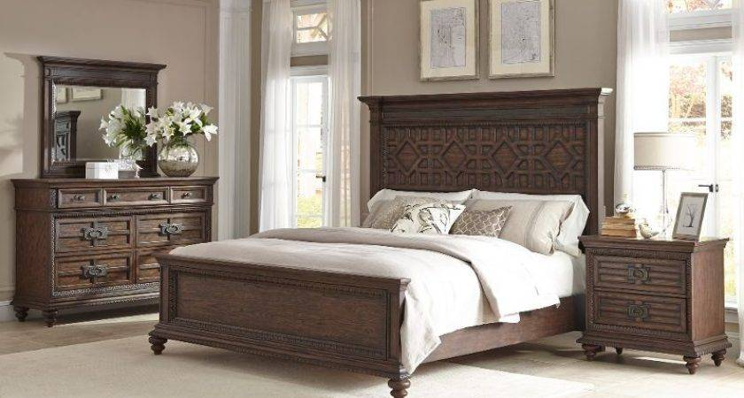 Palencia Rustic Brown Piece Cal King Bedroom Set