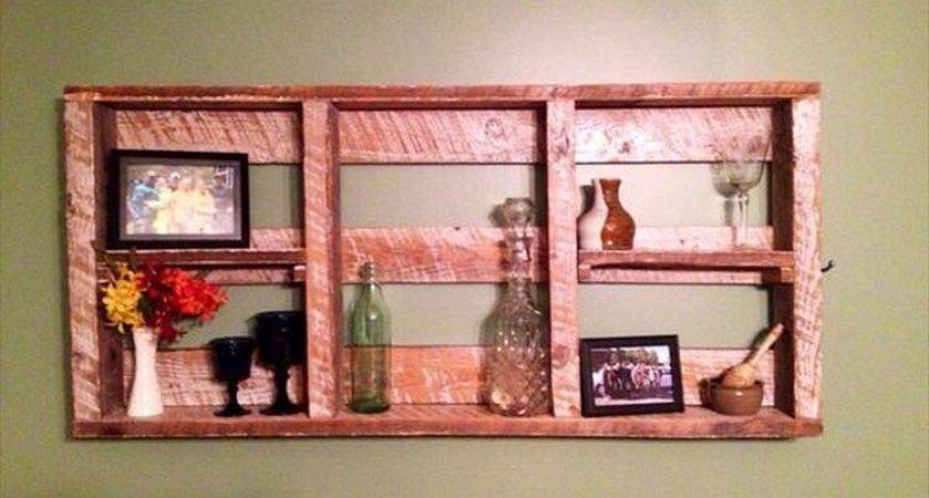 Pallet Shelves Wall Decor Recycled Things