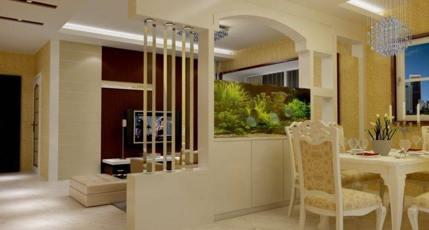 Partition Dining Room Living Wall Design Dma Homes