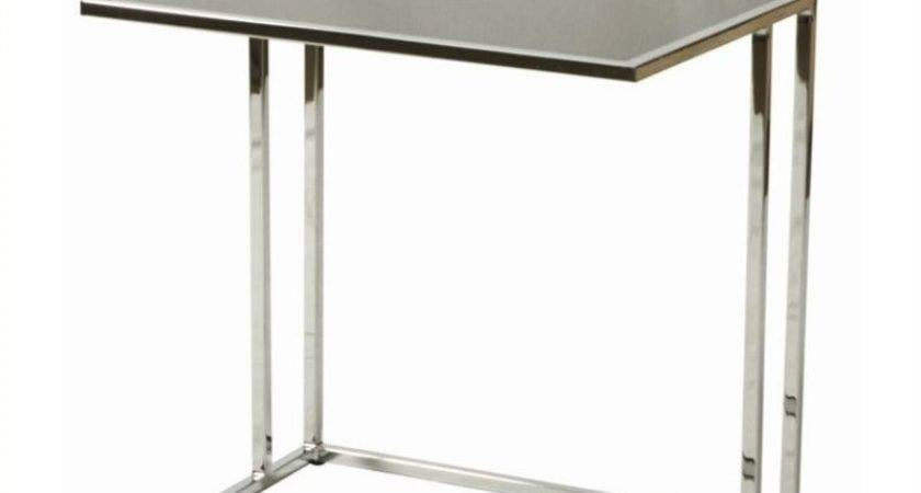 Pastel Furniture Norway Glass Top End Table Black
