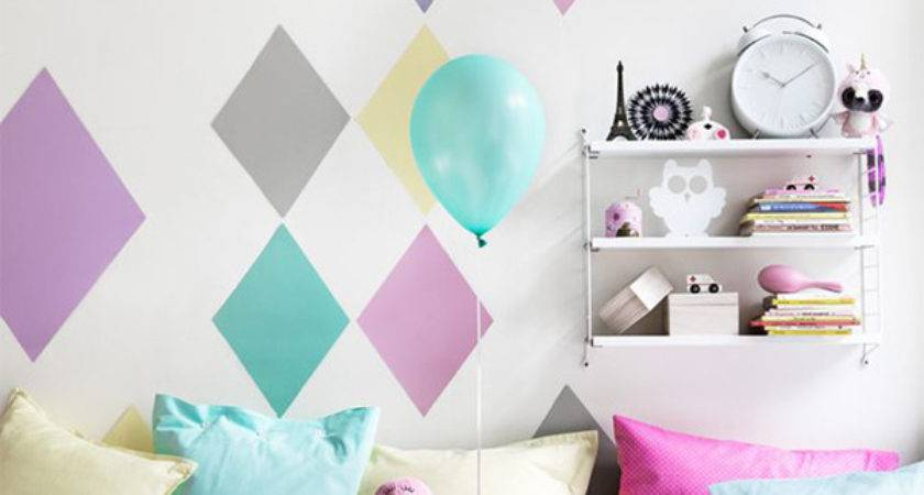 Pastel Kids Wall Bedroom