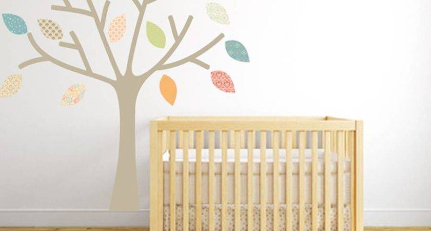 Pastel Tree Fabric Wall Sticker Littleprints