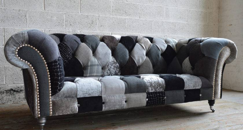 Patchwork Chesterfield Sofa Brand New Anna Scroll