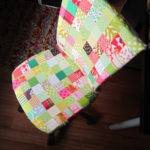 Patchwork Covered Ikea Chair Blogged Stitched