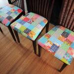 Patchwork Dining Chairs Stitched Color