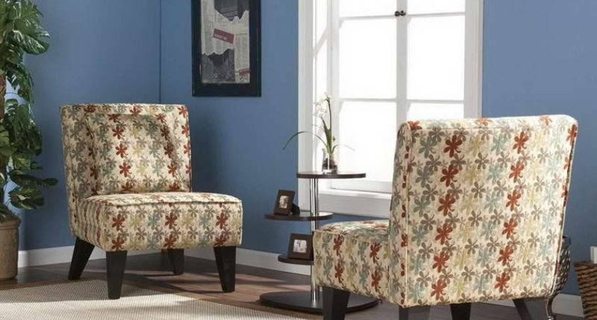 Pattern Living Room Accent Chairs Floral Design