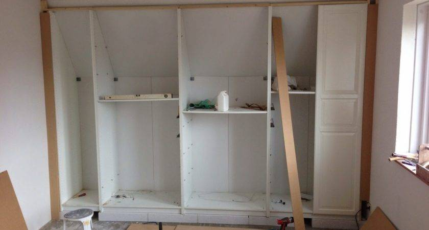 Pax Built Sloping Ceiling Ikea Hackers