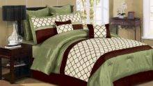 Pcs Luxury Microfiber Comforter Set Park Ave Queen King