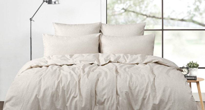 Pcs Real Washed Linen Duvet Cover Set King French Bedding