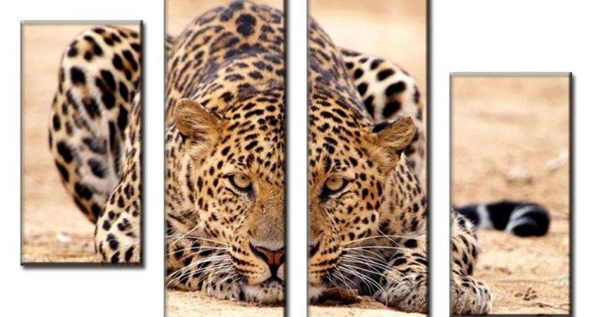 Pcs Set Excellent Large Canvas Paintings Animal Wall Art