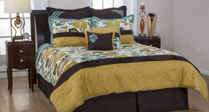 Pcs Tropical Flower Garden Turquoise Brown Yellow