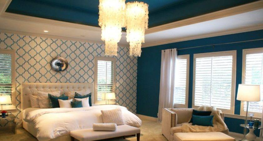Peacock Blue Bedroom Teal Paint Colors