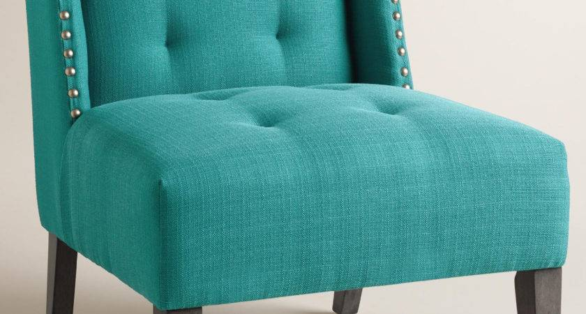Peacock Blue Carlin Wingback Chair Everything Turquoise