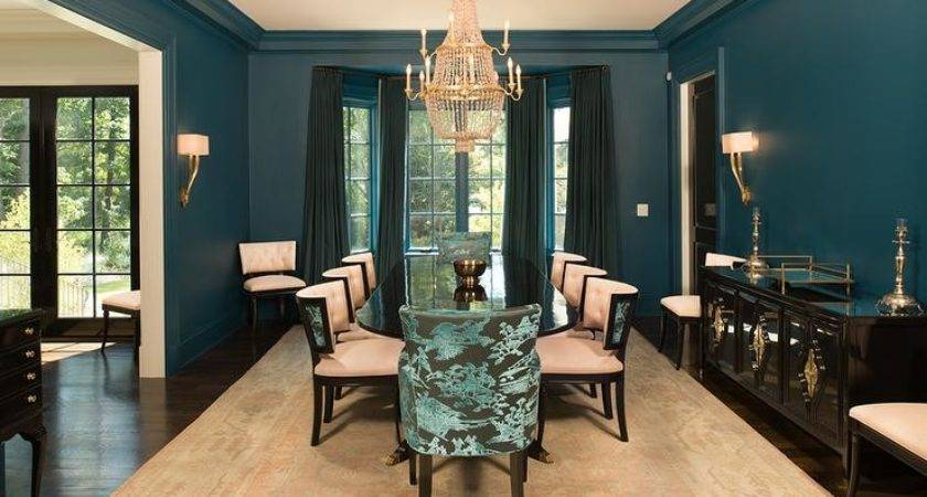 Peacock Blue Dining Room Best