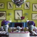 Peacock Blue Dining Room Contemporary Prints Modern