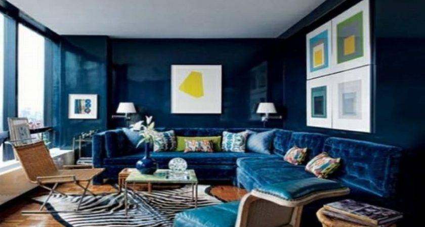 Peacock Blue Living Room Velvet Sofas