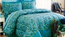 Peacock Feathers Teal Blue Green Exotic Bird Bedding