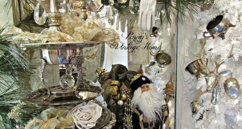 Penny Vintage Home Silver Gold Christmas Decor