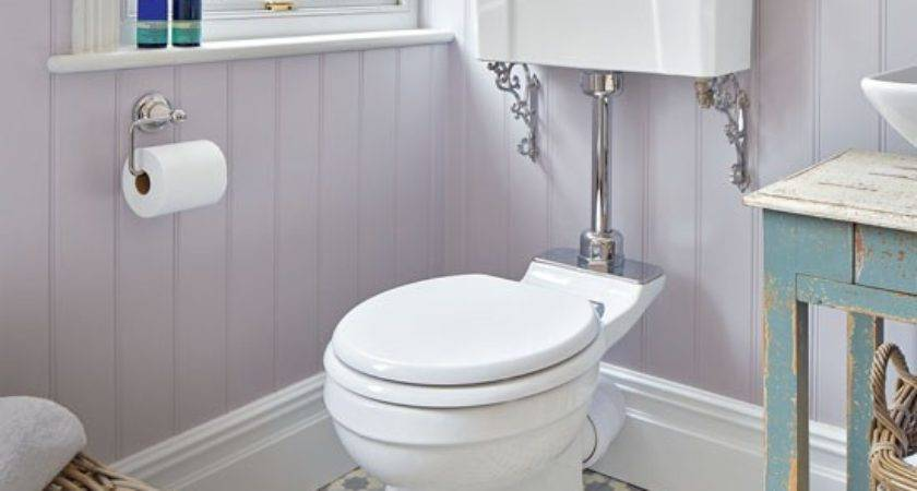 Period Style Bathroom Lilac Painted Panelling