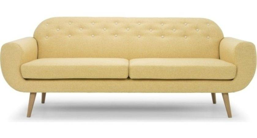 Petra Seater Fabric Sofa Couch Mustard Yellow Buy Sofas