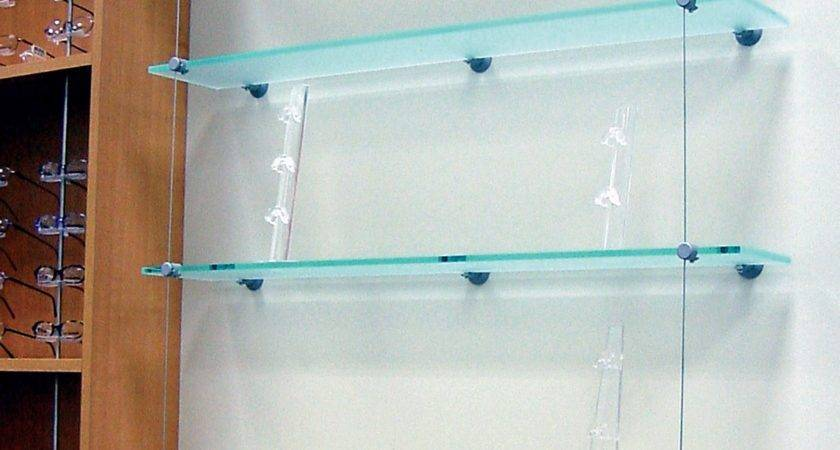 Photos Wire Suspended Glass Shelves Shelf Ideas