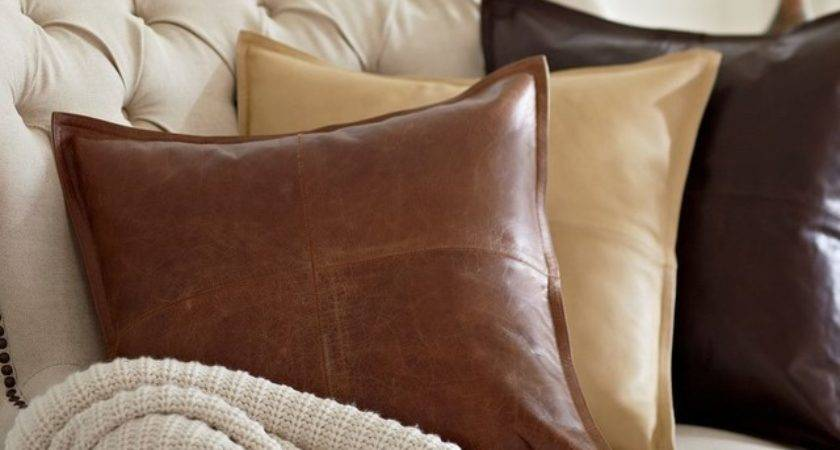 Piced Leather Pillow Cover Traditional Decorative