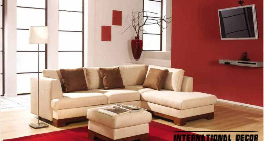 Pics Red White Living Room Furniture