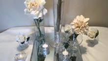 Piece Glass Mirror Centerpiece Self Serve Wedding Rentals