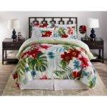 Piece Soft Floral Complete Bed Set Comforter King Queen