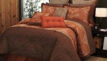 Pieces Traditional Orange Brown Jacquard Floral
