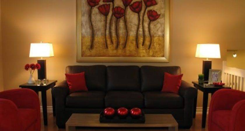 Pillows Brown Sofa Living Room Red
