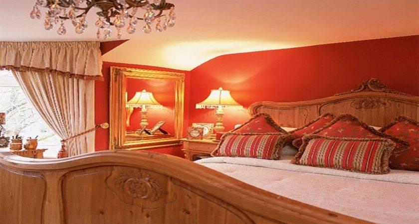 Pine Bedroom Ideas Red Gold Decorating