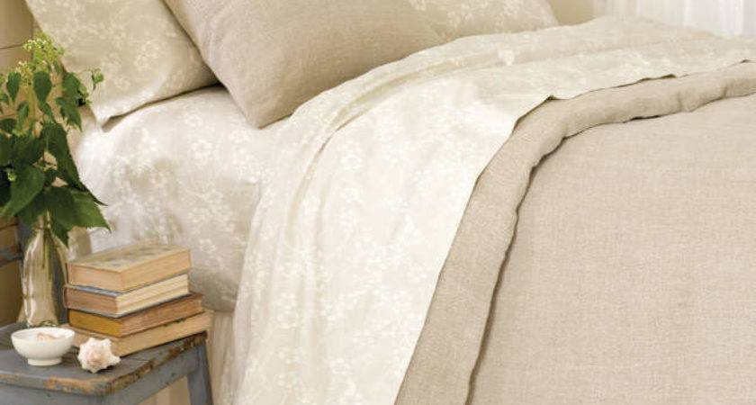 Pine Cone Hill Stone Washed Linen Natural Duvet Covers