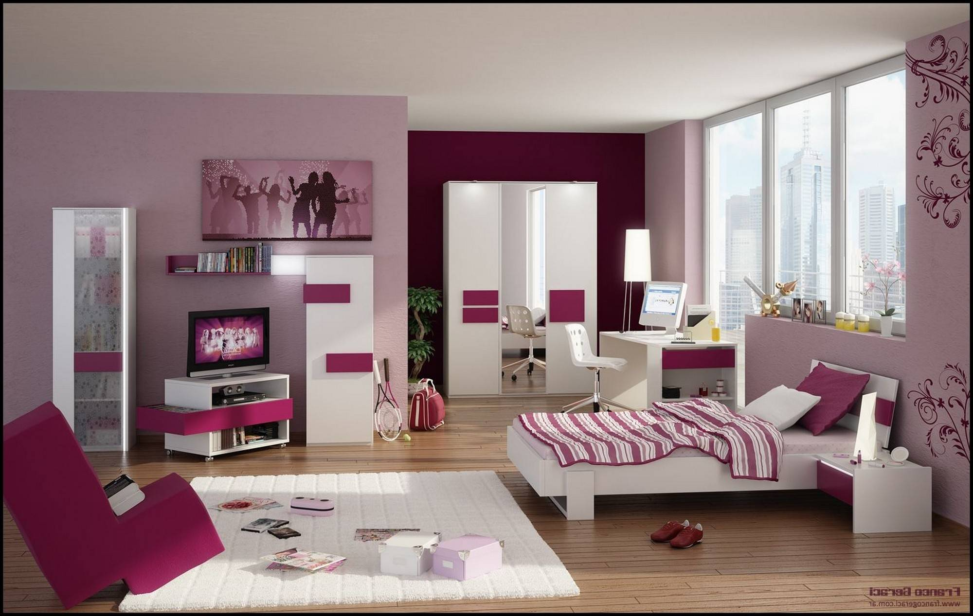Pink Bedroom Ideas Young Adults White Gloss Homes Decor