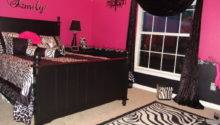 Pink Black Zebra Teen Girls Bedroom