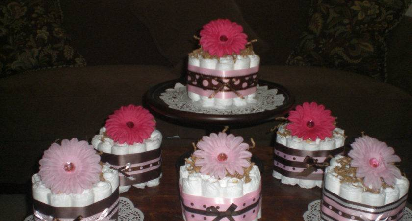 Pink Brown Baby Shower Decor Decorating Party Ideas