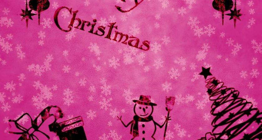 Pink Christmas Grasscloth