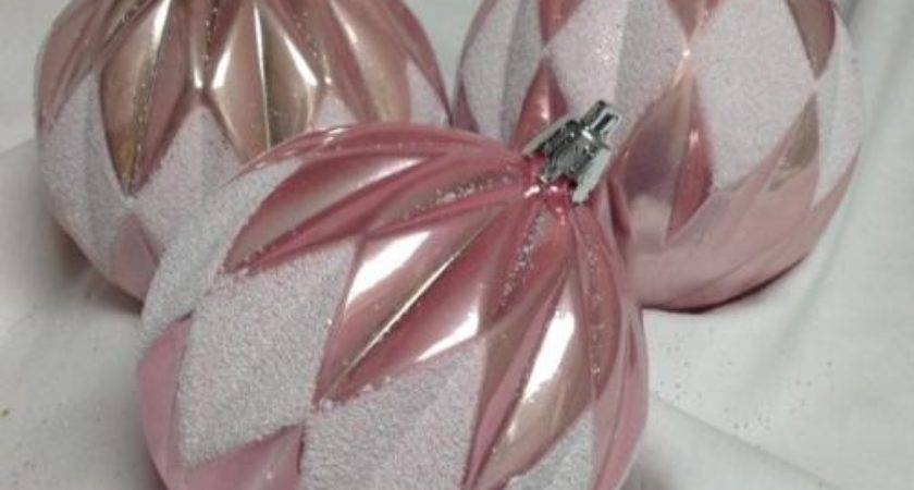Pink Christmas Ornaments Collection Ebay
