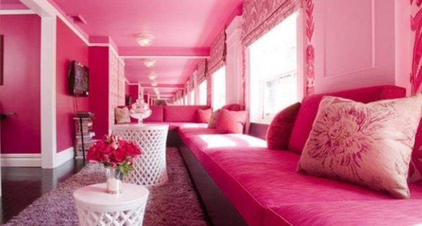 Pink Color Schemes Offering Symbolic Romantic Interior