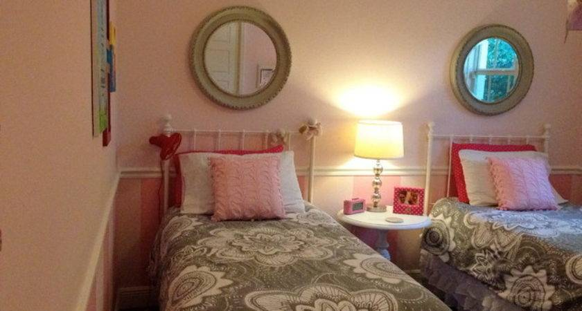 Pink Gray Girls Room Contemporary Kids Other Metro